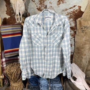 Aeropostal Mens Button Up Long Sleeve Shirt Size M
